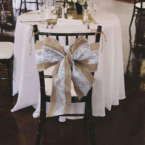 2019 240 x 15cm lace bowknot burlap chair sashes natural