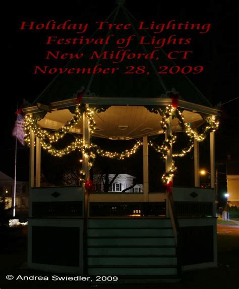 new milford ct holiday tree lighting festival of lights