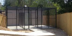 Dog fences and dog enclosures for Dog run cage enclosure
