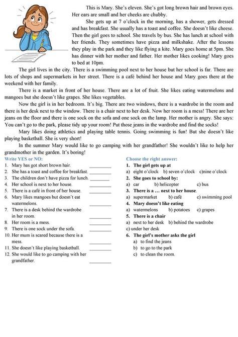 reading comprehension worksheets reading comprehension