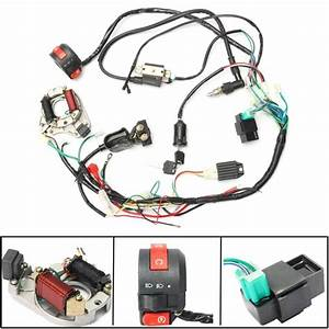 50 70 90 110cc Cdi Wire Harness Assembly Wiring Kit Set