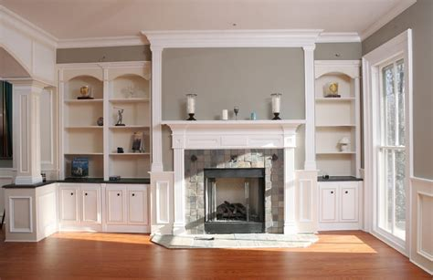 Fireplace Mantle With Bookcases On Sides Yelp