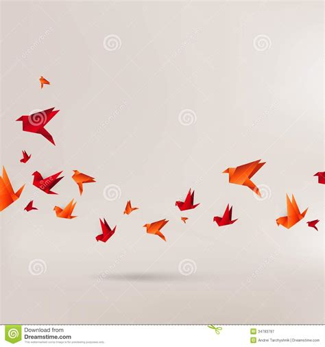 origami paper bird  abstract background royalty