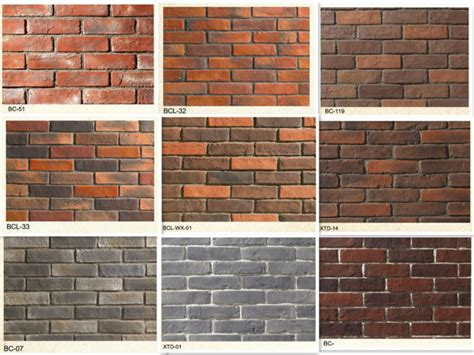 outdoor brick wall tiles faux stone wall brick tile artficial brick exterior wall panel ceramic tile artificial