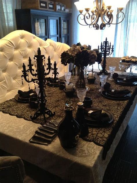 elegant halloween tablescaping halloween table decor