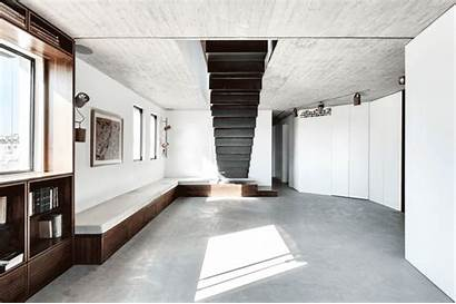 Duplex Penthouse Aviv Tel Architects Apartment Staircase