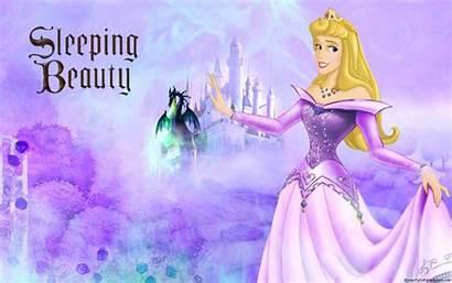 Sleeping Aurora Princess Beauty Disney Purple Background