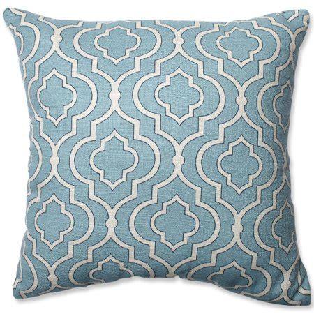 aqua blue throw pillows 16 5 quot donetta aqua blue and lucky one square
