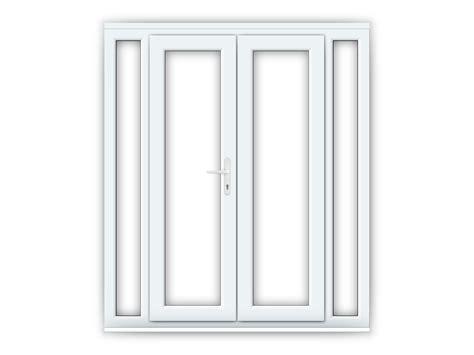 4ft uPVC French Doors with 2 Narrow uPVC Side Panels