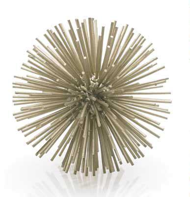 Metallic Starburst Sculpture   MOSS MANOR: A Design House