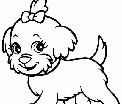 Poodle Coloring Pages Dog Printable Bulldog Husky