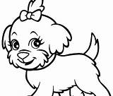 Poodle Coloring Pages Dog Printable Husky Baby Bulldog English Line Dogs Drawing Realistic Puppy Cute Cartoon Cowardly Clipart Sheet Clipartmag sketch template