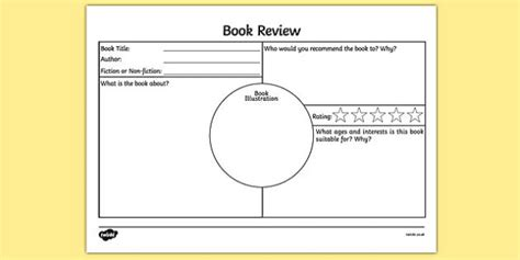 25 best ideas about book review template ks2 on