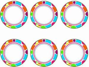 polka dot circle labels ed by michelle mcelhinny With editable circle labels