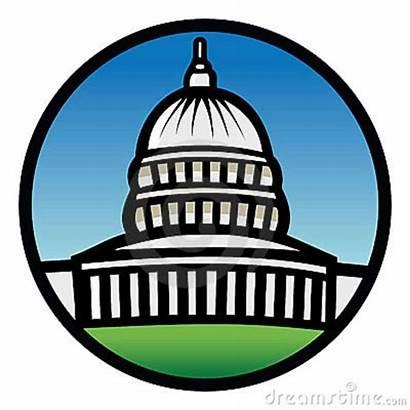 Capitol Building Clipart Representatives Washington Dc Cartoon