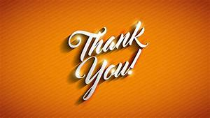 Thank You message over vivid orange background Motion ...