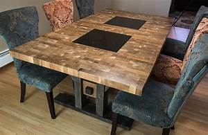 Custom Furniture Regina: Butcher Block Style Dining Table