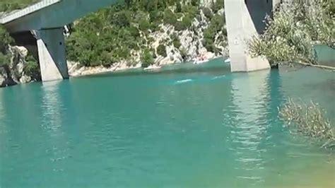 saut du pont du lac sainte croix des gorges du verdon