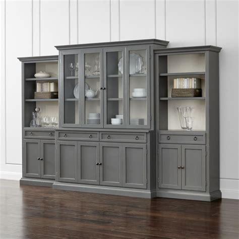 modular bookcases with doors cameo 4 piece modular grey glass door wall unit with