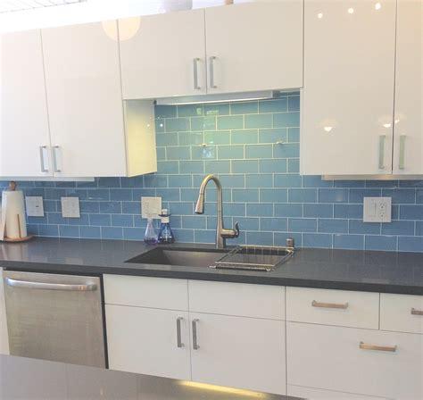 blue glass tile kitchen backsplash sky blue glass subway tile subway tile outlet