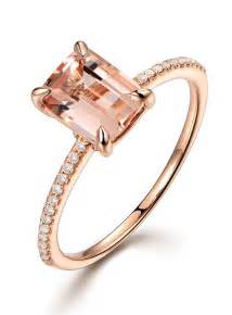 classic engagement rings 2 carat morganite and classic multistone engagement ring in gold jeenjewels