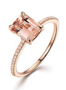 morganite engagement rings gold 2 carat morganite and classic multistone engagement ring in gold jeenjewels
