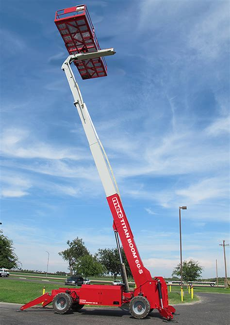 mec titan boom    boom lift jms powered access