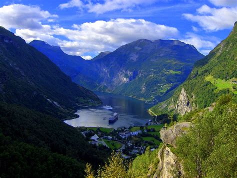 Geirangerfjord Norway Just Like A Paradises Valley