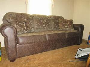 White tailed deer leather sofa for sale online auctions for Sectional sofas for sale red deer