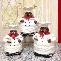 buy bistro fat chef canister set ceramic kitchen decor
