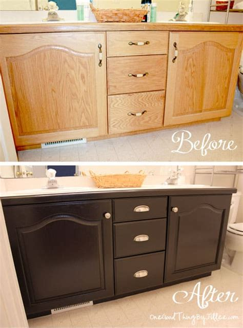 Bathroom Cabinet Makeover by Bathroom Cabinet Makeover 8 One Thing By Jillee