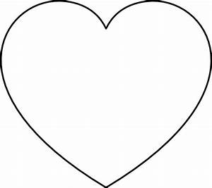 Full page heart template clipart best for Full page heart template