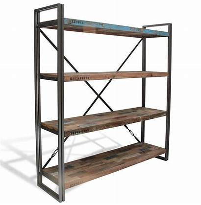 Industrial Shelves Bookcase Boatwood Furniture Shelving Unit