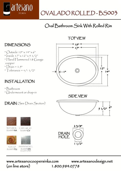 How To Measure Bathroom Sink by Buy Ovalado Rolled Bathroom Copper Sink In Cafe Viejo