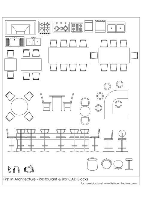 kitchen Plan Cad - Free CAD Blocks Restaurant and Bar... #
