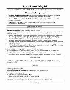 Sample resume for a midlevel mechanical engineer monstercom for How to make an engineering resume