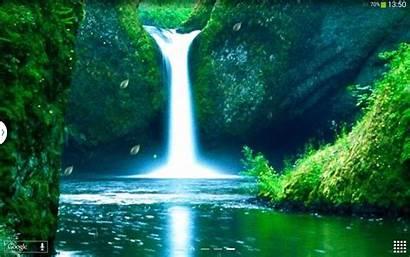 Terjun Animasi Bergerak Pemandangan Gambar Waterfall Nature