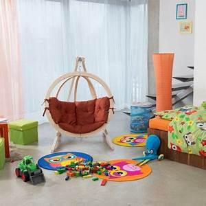 Fauteuil Suspendu Enfant : fauteuil suspendu pour enfant en bois globo terracotta amazonas trendy homes ~ Melissatoandfro.com Idées de Décoration