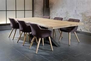 Table à Manger Industrielle Acier Et Bois : table salle a manger pied m tal plateau bois ch ne massif boisetdeco ~ Teatrodelosmanantiales.com Idées de Décoration