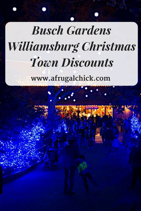 Busch Gardens Williamsburg Promo Code by Town Discounts