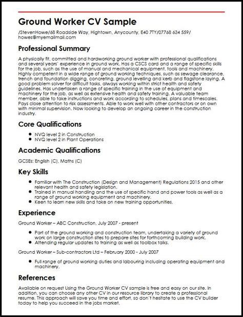 ground worker sle resume 28 images care worker resume