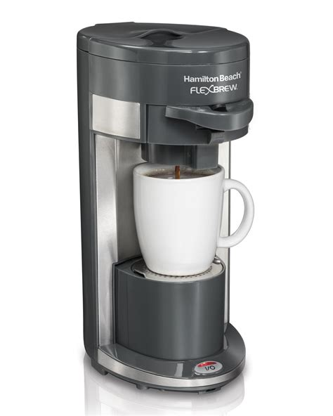 This single scoop serving coffee maker with any kind of coffee ground brews a customizable cup of coffee for you. Hamilton Beach FlexBrew Single Serve Coffeemakers   eBay