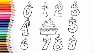 How to Draw Numbers Coloring Pages   Kids Songs Learn ...