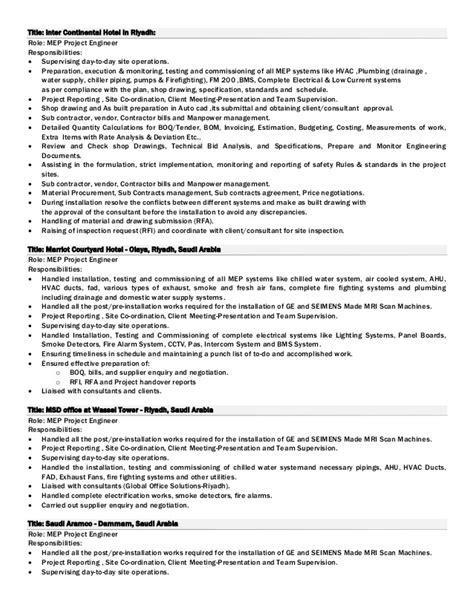 hvac project sales engineer resume resume