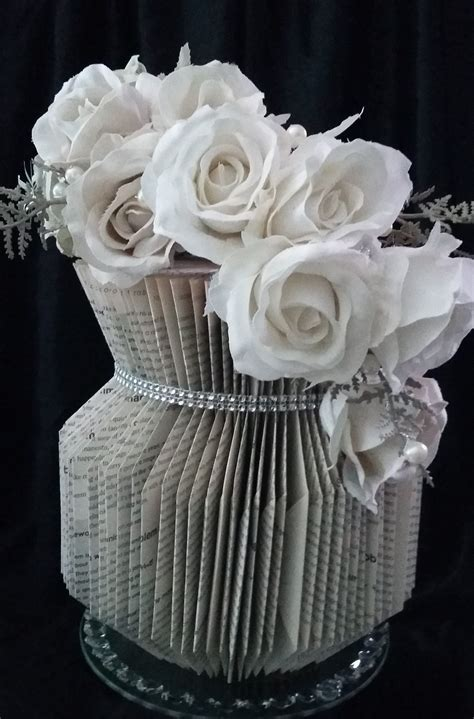 book folding part  vase  book folding book page