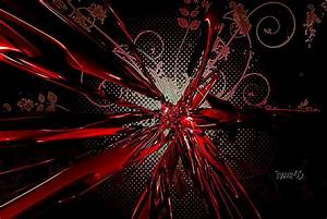 Red Abstract 3D Background Hd Wallpaper