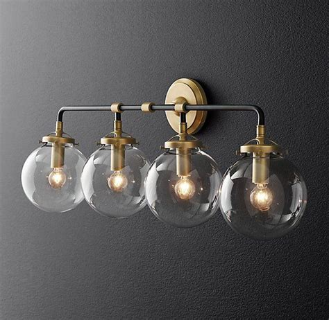 Rh Modern Bathroom Lighting by Rh Modern S Bistro Globe Bath Sconce 4 Light Inspired By
