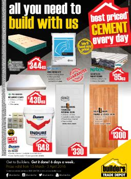 builders warehouse specials  mar   apr