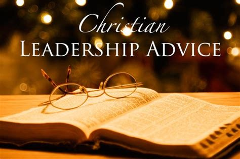 christian leadership advice