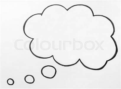 Bubble Thought Thinking Cloud Speech Drawn Hand